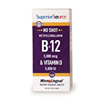 Superior Source Methyl B12 and Vitamin D3 5000 IU Multivitamins, 5000 mcg, 100 Count