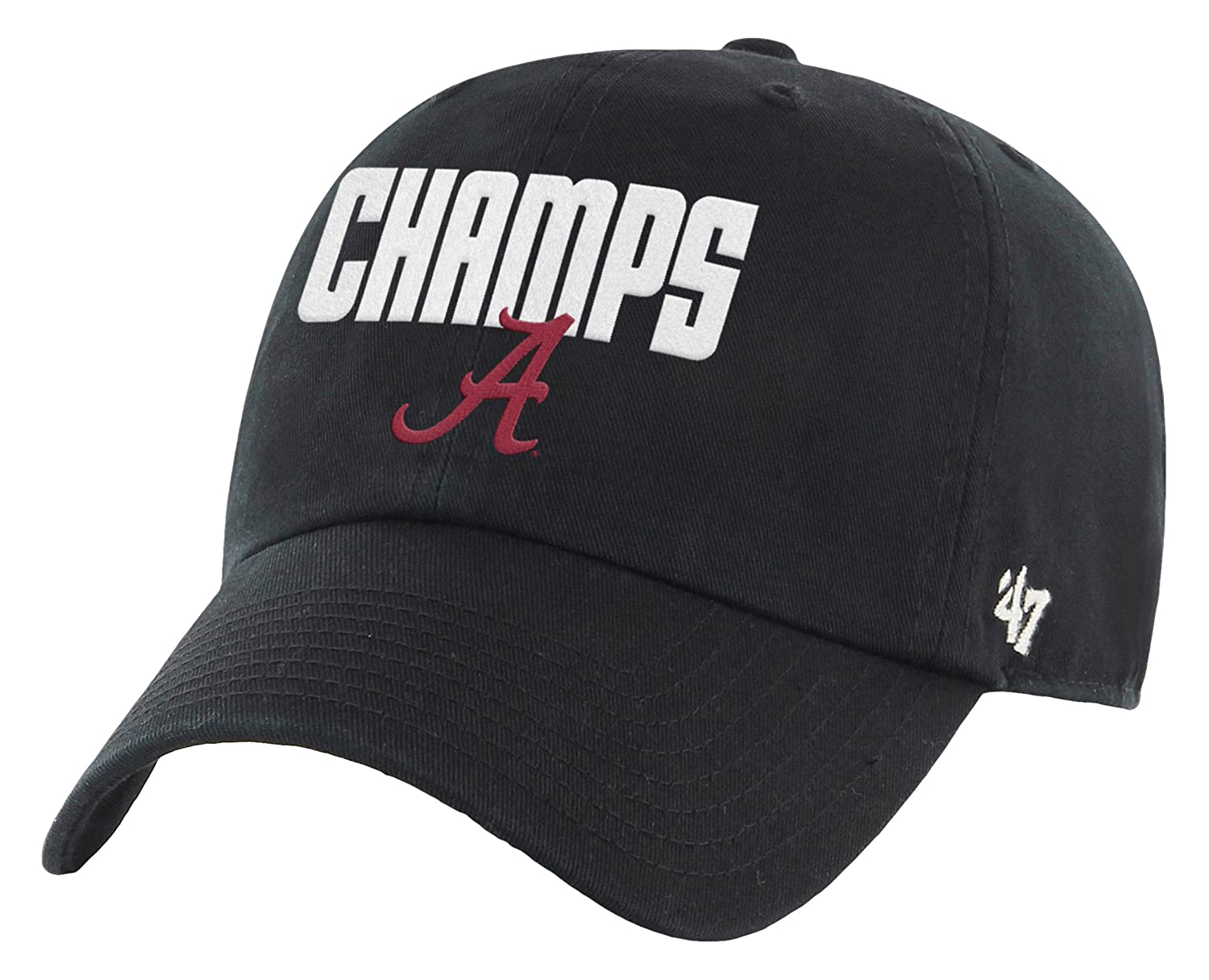 low priced 70448 0f4cc Amazon.com   NCAA Alabama Crimson Tide 2015 National Champions Clean Up  Adjustable Hat, One Size, Black   Sports   Outdoors