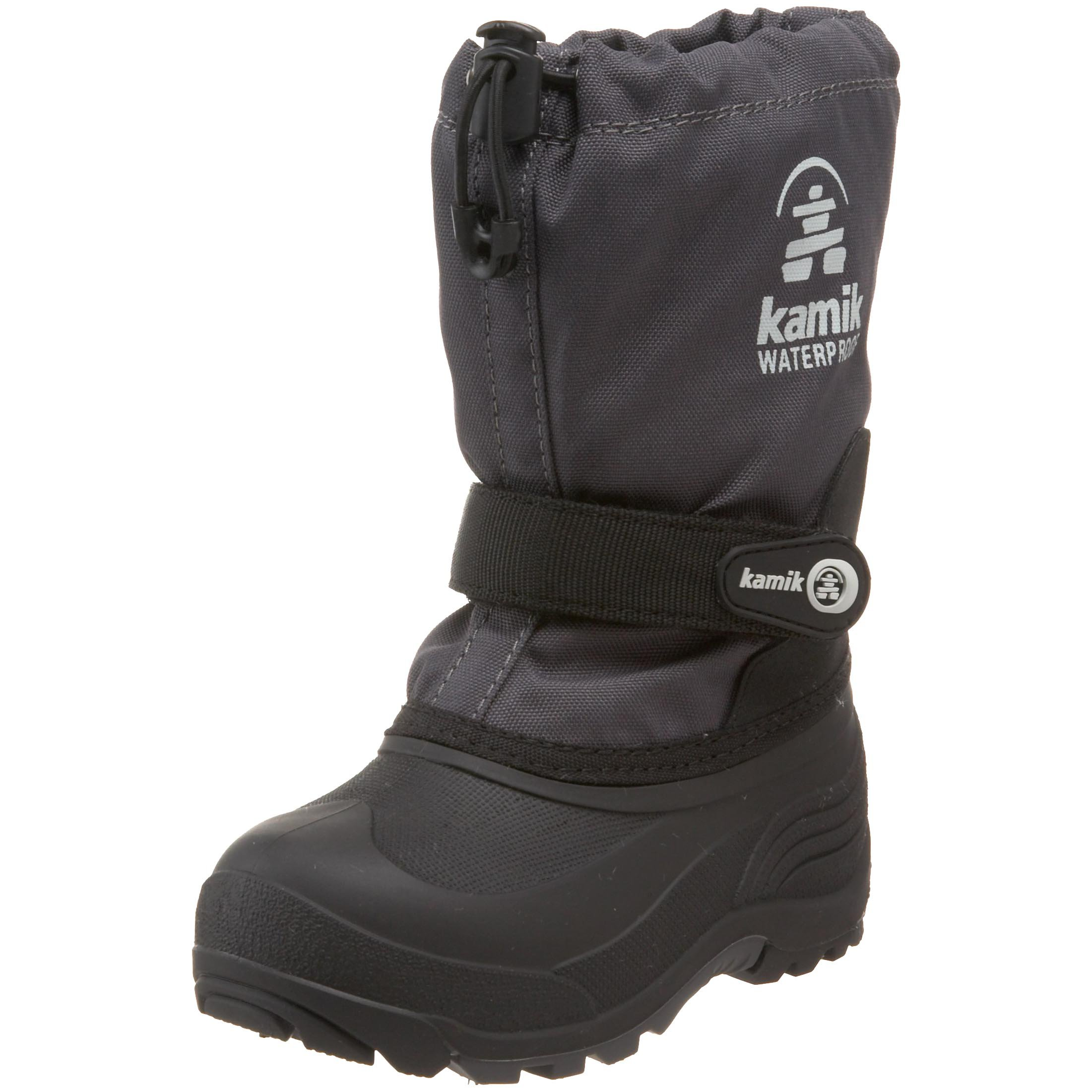 Kamik Waterbug Wide Cold Weather Boot (Toddler/Little Kid/Big Kid),Charcoal,8 W US Toddler