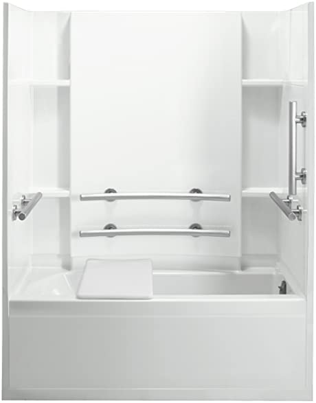 Sterling Plumbing 71150125-0 Accord Bath Tub and Shower Kit, 60 ...