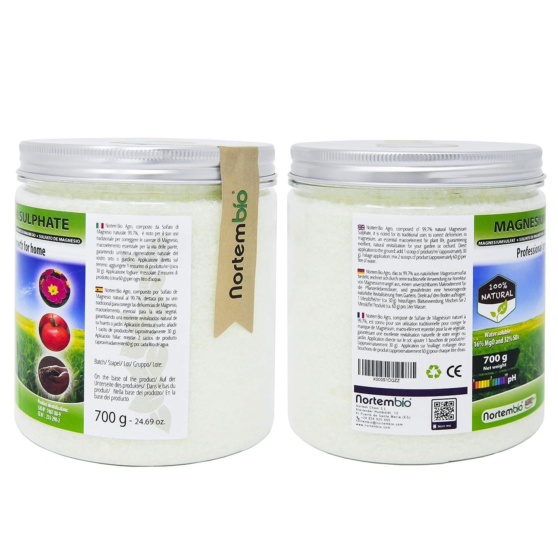 ... Sulfato de Magnesio Natural 1, 2 Kg. Uso Universal. Favorece el Crecimiento de Cultivos, Jardines, Plantas de Interior y Exterior.: Amazon. es: Jardín