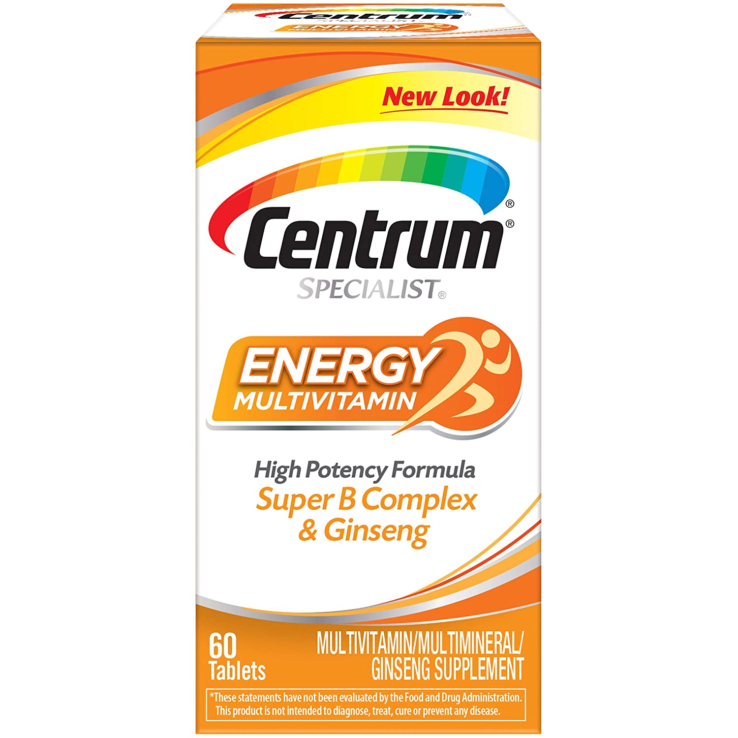 Vitamins For Energy >> Centrum Specialist Energy Complete Multivitamin Supplement 60 Count Tablets
