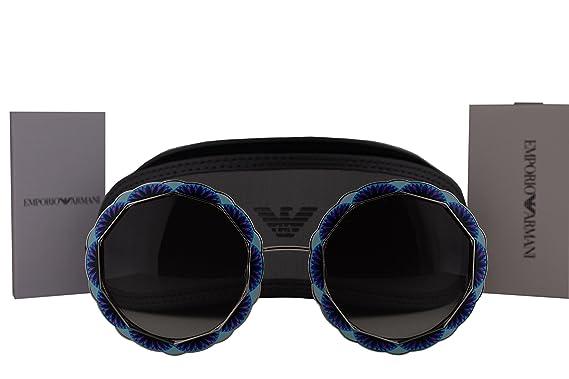 0ff09d8437bb Emporio Armani Authentic Sunglasses EA2054 Silver Blue w Grey Gradient Lens 301511  EA 2054 (55mm)  Amazon.co.uk  Clothing