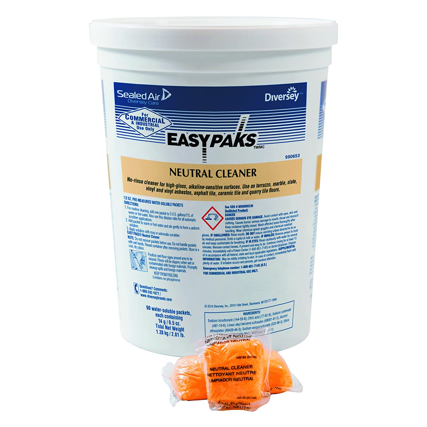 Amazon Easy Paks Neutral Cleaner 05 Oz Packet Tub Of 90