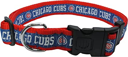 Chicago Cubs Nylon Collar and Matching Nylon Leash for Pets MLB Official by Pets First Size Medium