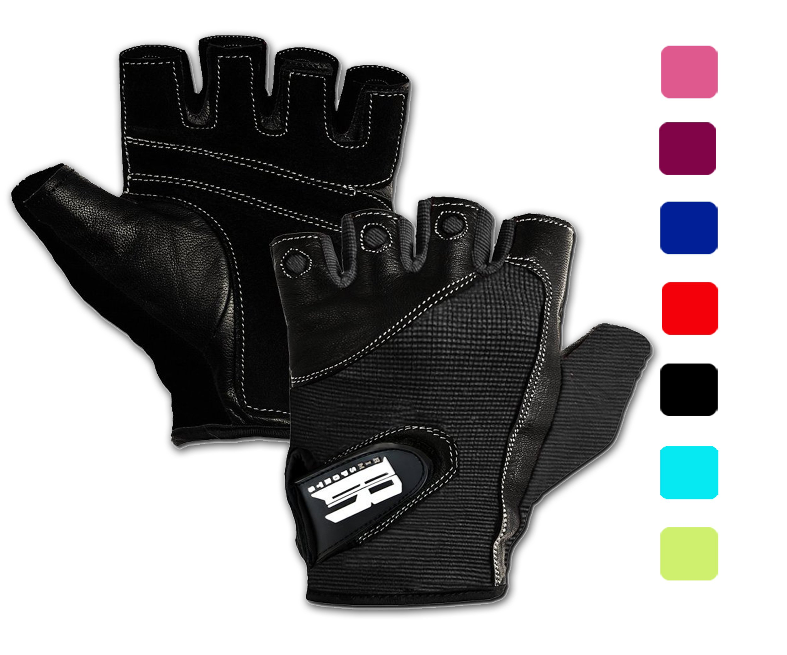 RIMSports Weight Lifting Gloves for Gym -Gym Gloves w/Washable - Ideal Rowing Gloves,Workout Gloves - Premium Gloves for Core Fitness Dumbbells & Flexibility Machine Black XS