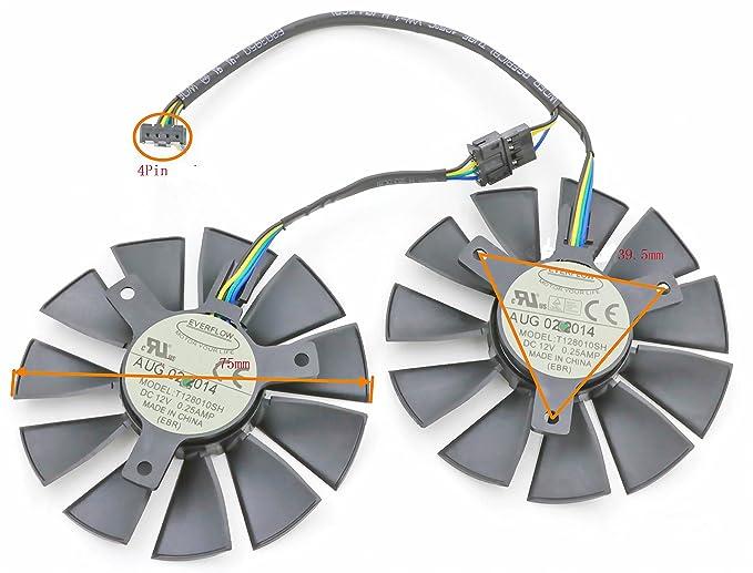 Amazon.com: Tarjeta de vídeo ventilador de refrigeración de ...