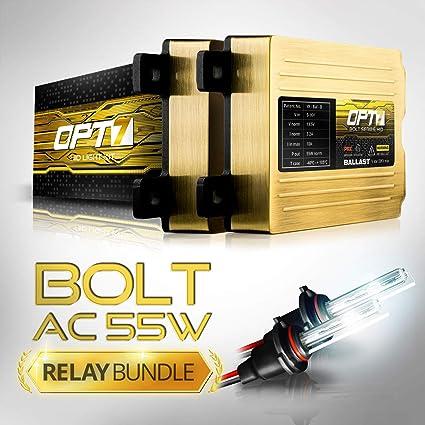 Amazon Com Opt7 Bolt Ac 55w Hi Power H11 H8 H9 Hid Kit Relay