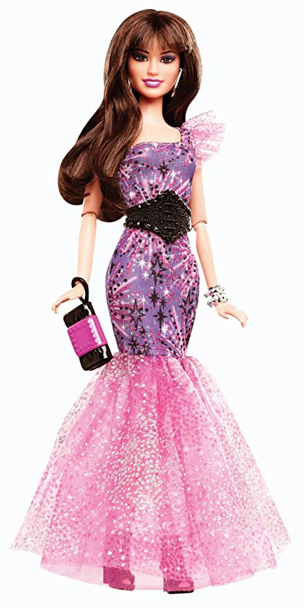 323f2f11a4 Image Unavailable. Image not available for. Color  Barbie Fashionistas in  The Spotlight Gown Doll