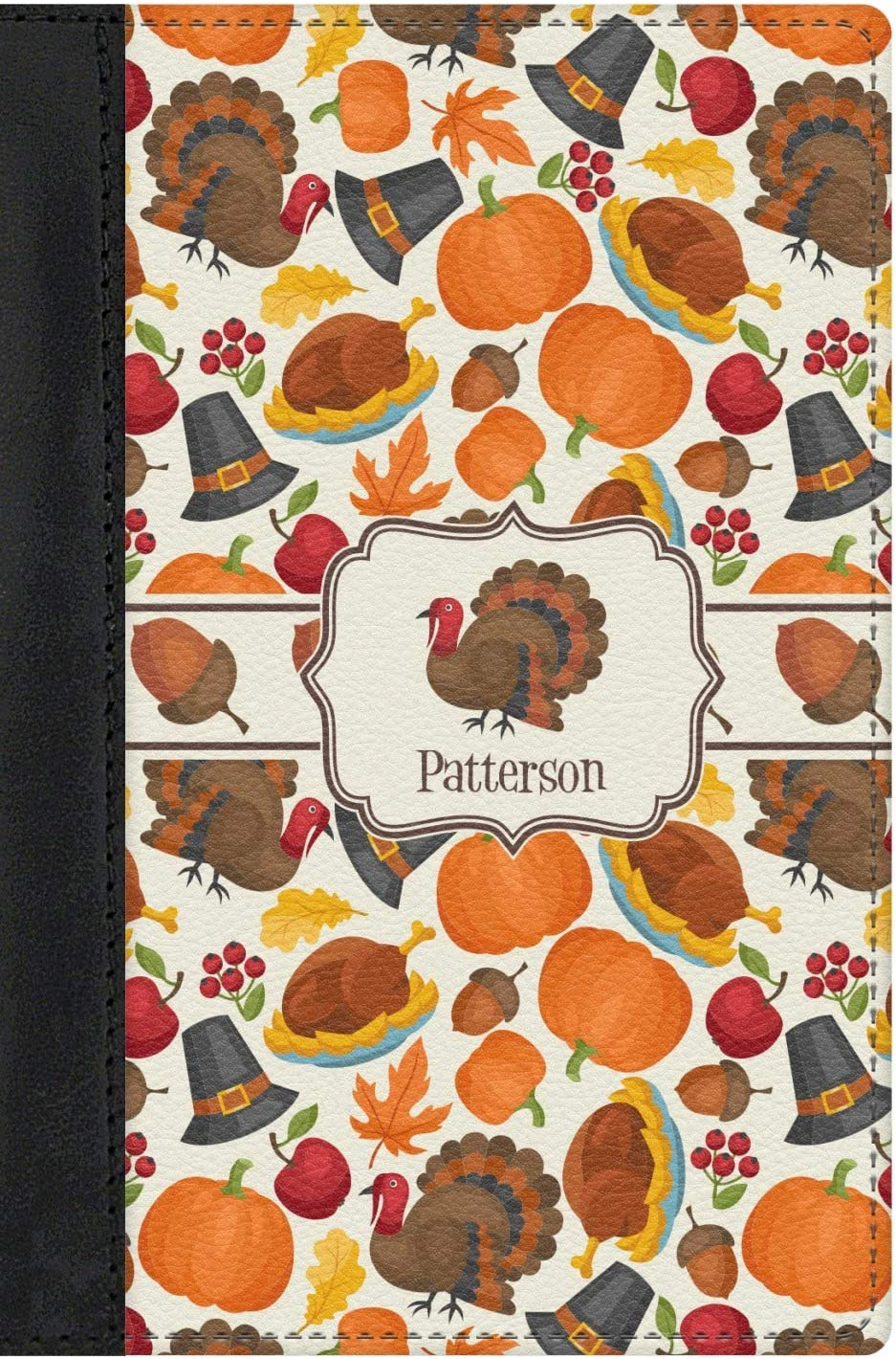 Personalized Traditional Thanksgiving Genuine Leather Passport Cover