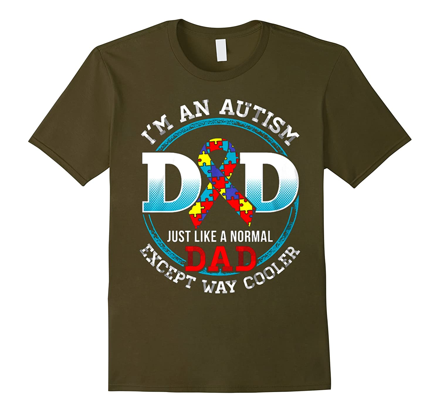 Mens Cool Im An Autism Dad T-Shirt Autism Awareness Day Gifts-TH