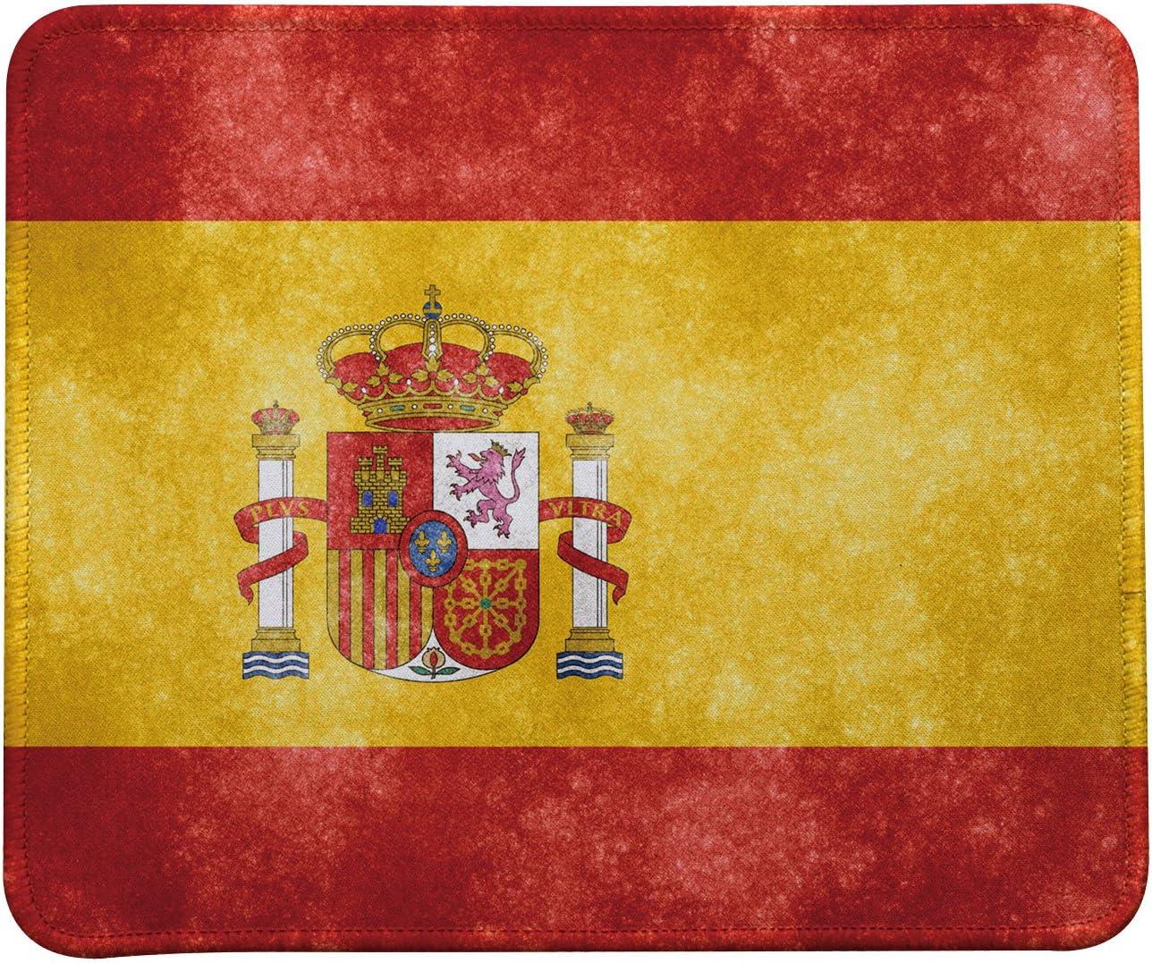 Diseño Retro de la bandera de España alfombrilla para ratón, alfombrilla de ratón de bandera de España por vivipow (TM): Amazon.es: Oficina y papelería
