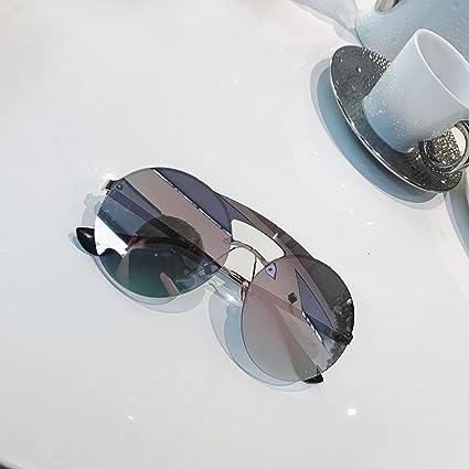 VVIIYJ Gafas de Sol con Montura Redonda de Doble Faja Gafas ...