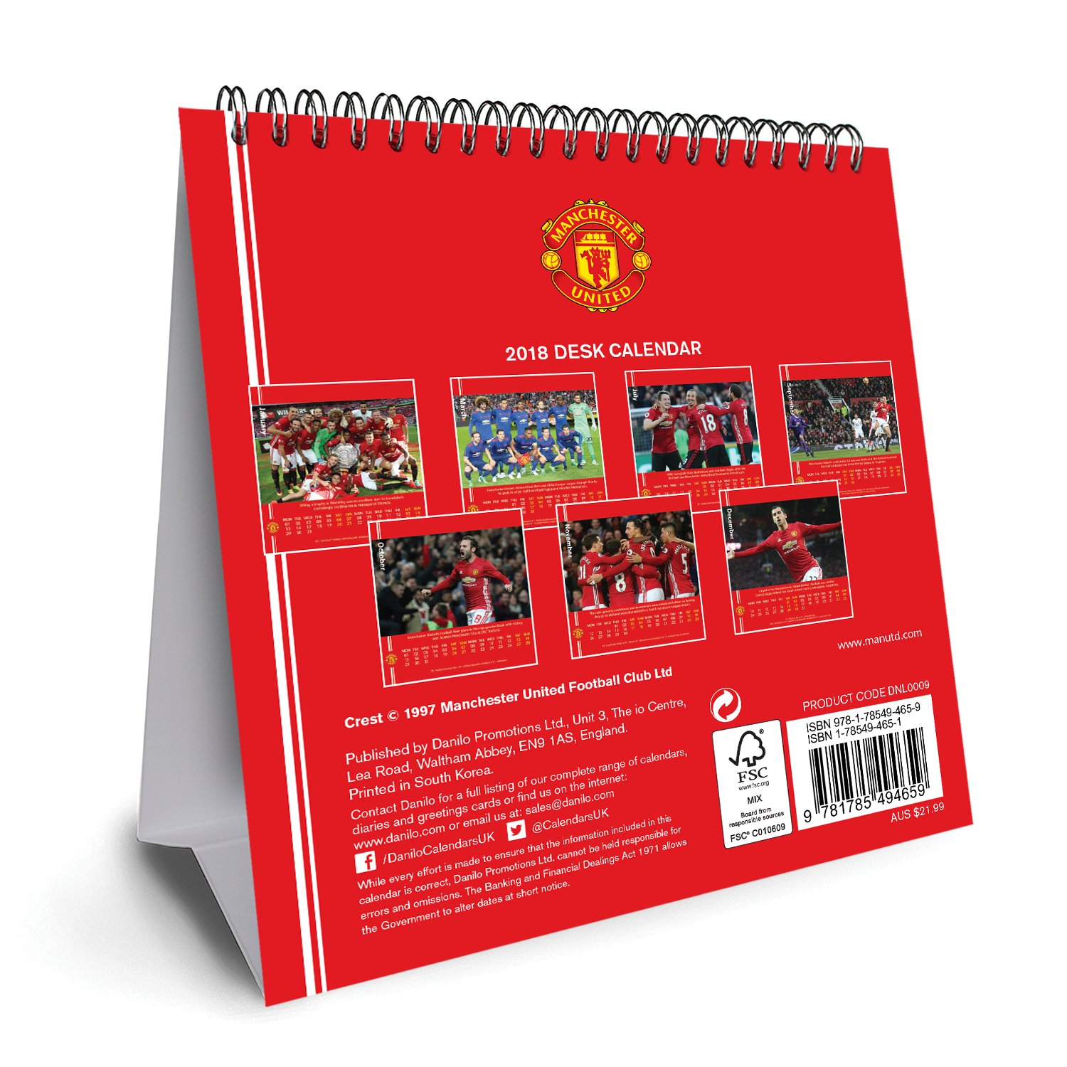 Amazon manchester united fc official desk easel 2018 calendar amazon manchester united fc official desk easel 2018 calendar month to view desk format desk easel calendar 2018 soccer voltagebd Image collections