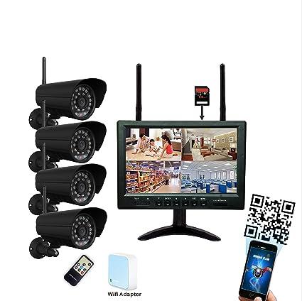 9 pulgadas monitor 720P HD Wifi Radio Sistema de Video Vigilancia Tiempo real, visión nocturna