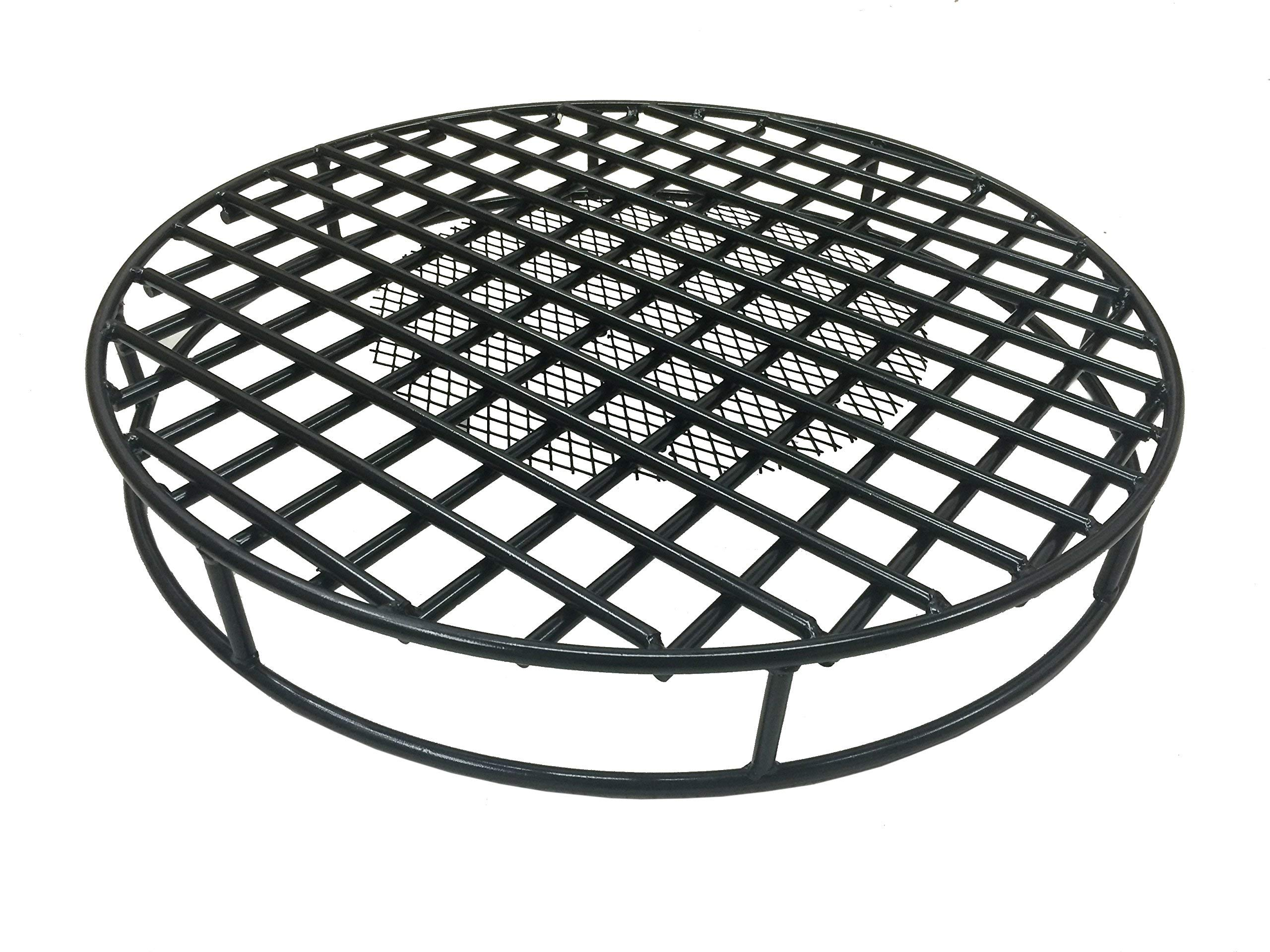 Walden Fire Pit Grate Round 29.5'' Diameter Premium Heavy Duty Steel Grate with Ember Catcher for Outdoor Fire Pits by Walden Backyards