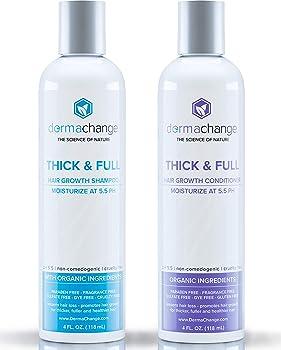 DermaChange- Organic Vegan Conditioner Set Natural Hair Growth Shampoo