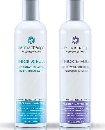 Organic Vegan Hair Growth Shampoo and Conditioner Set - Natural Hair  Regrowth with Vitamins - Hair