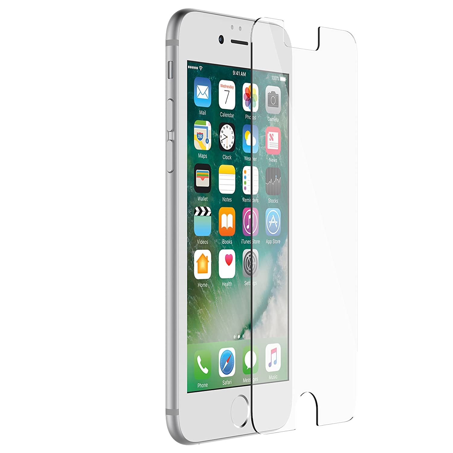 OtterBox ALPHA GLASS SERIES Screen Protector for iPhone 6/6s/7/8 (NOT Plus) - Retail Packaging - CLEAR