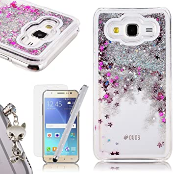 new concept 366e9 187a8 Galaxy J5 2015 Liquid Case,Samsung J5 2015 Glitter Bling Bling Cover,We  Love Case Flowing Floating Water Liquid Swimming Plastic Case Clear Hard  Shell ...