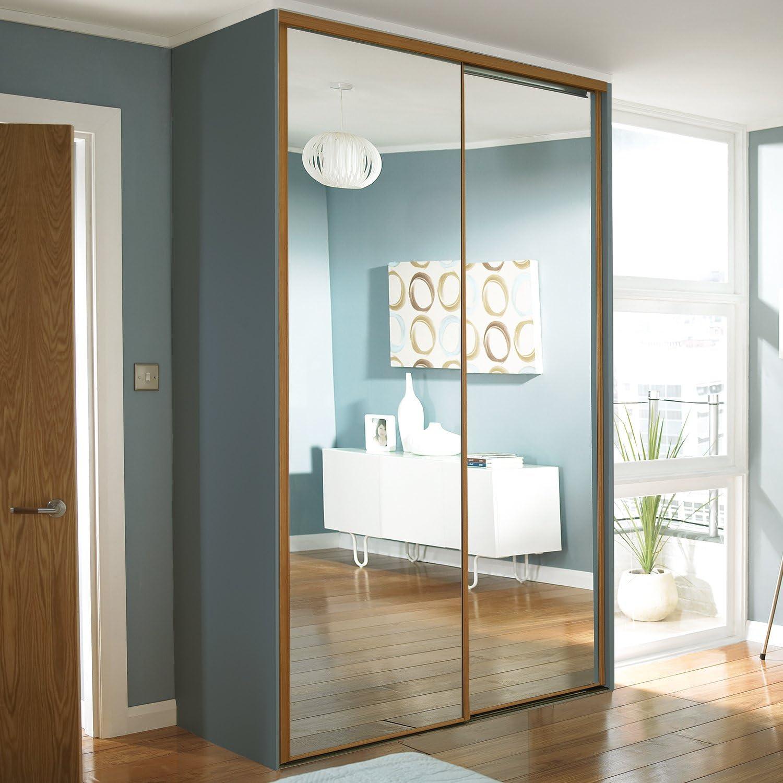 Puerta corredera para armario puerta Set; 4; Diseño clásico de espejo a la medida. Para adaptarse a cualquier anchura de 2150 mm – 4555 152 mm (1 ins – 14 ft 11
