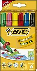 BIC 929661 Plumones Visa XL, Cajilla de 6 Piezas