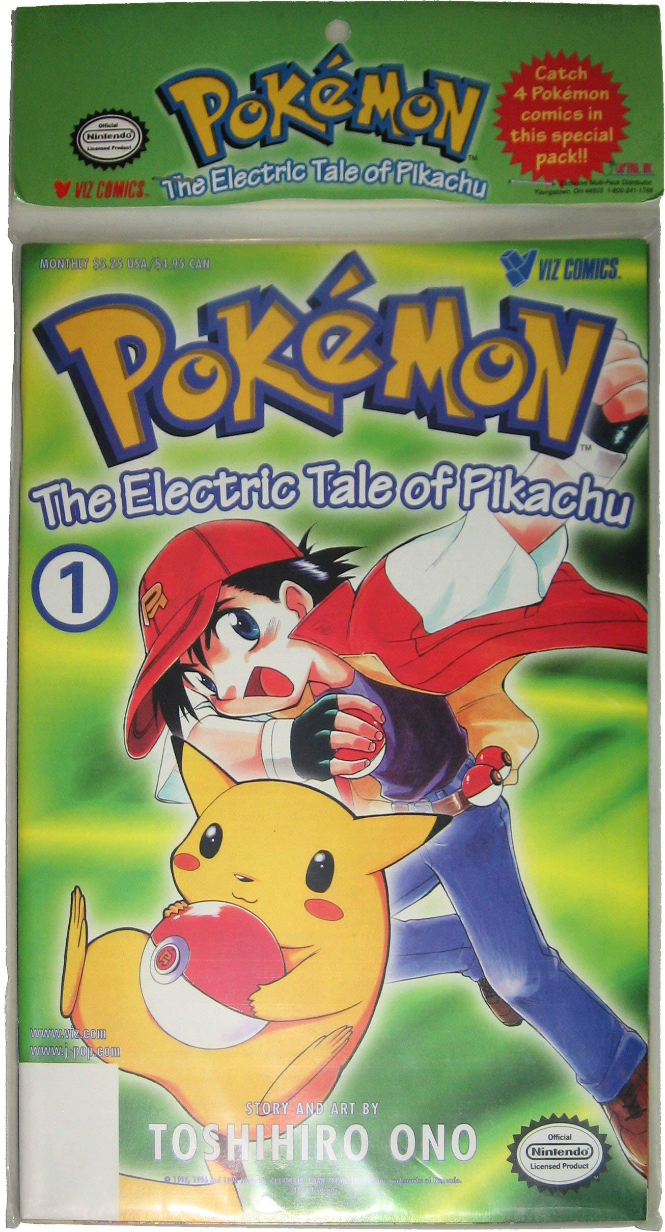 4 New and Sealed  The Electric Tale of Pikachu     Set of 4 POKEMON COMICS