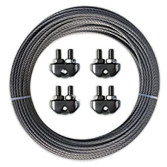 Cable de acero inoxidable, 3 mm, 10 m, 25 m, 50 m, 100 m ...