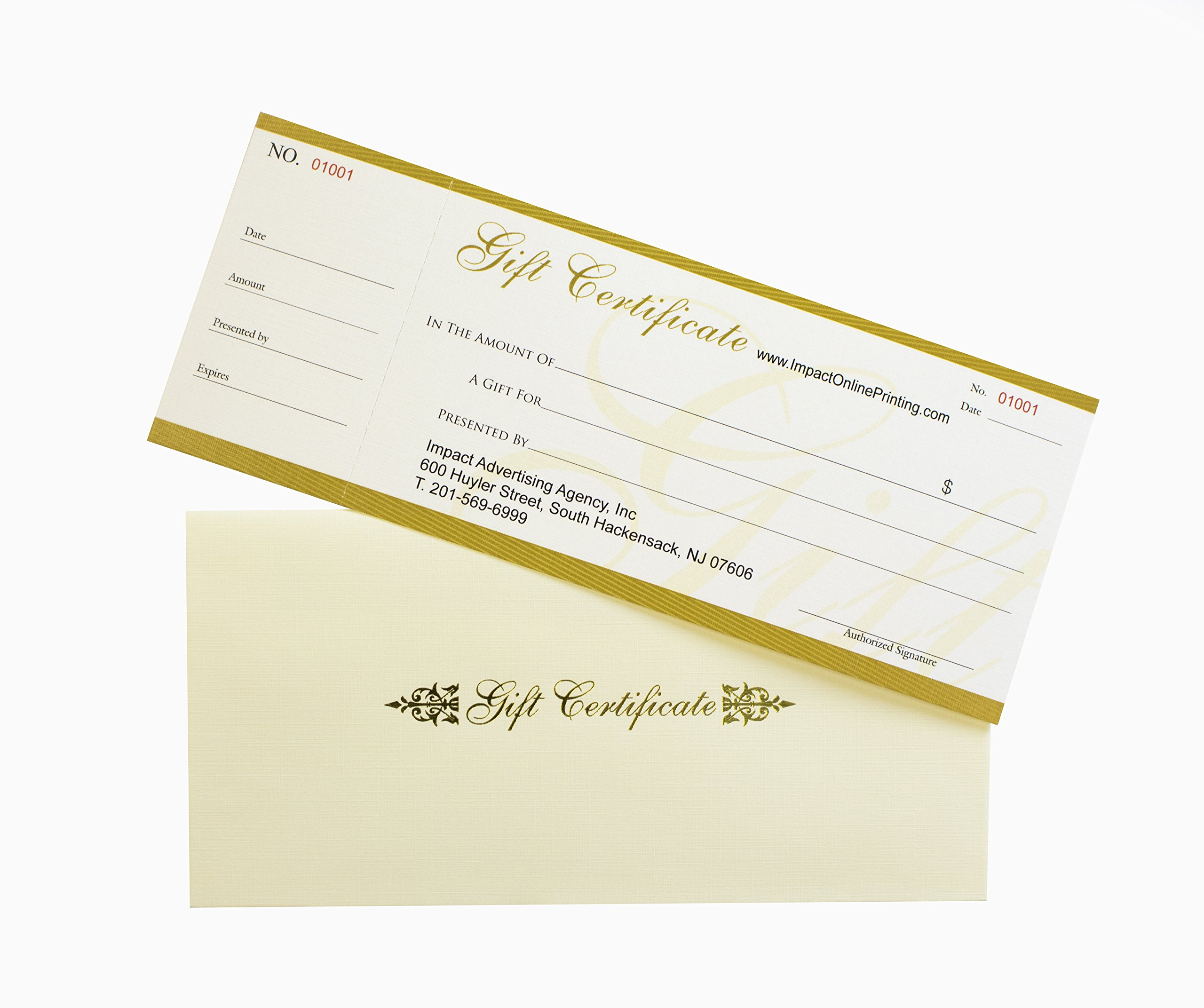 Custom Gift Certificates100set-NJ67SB