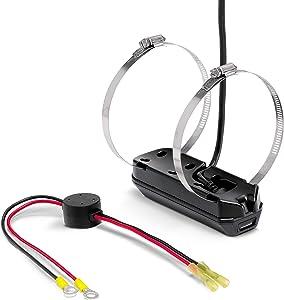 Humminbird 710291-1 XTM 14 HW MDI T SOLIX (MEGA Down Imaging+) Dual Spectrum Chirp with Temperature Trolling Motor Mounted Transducer, Black