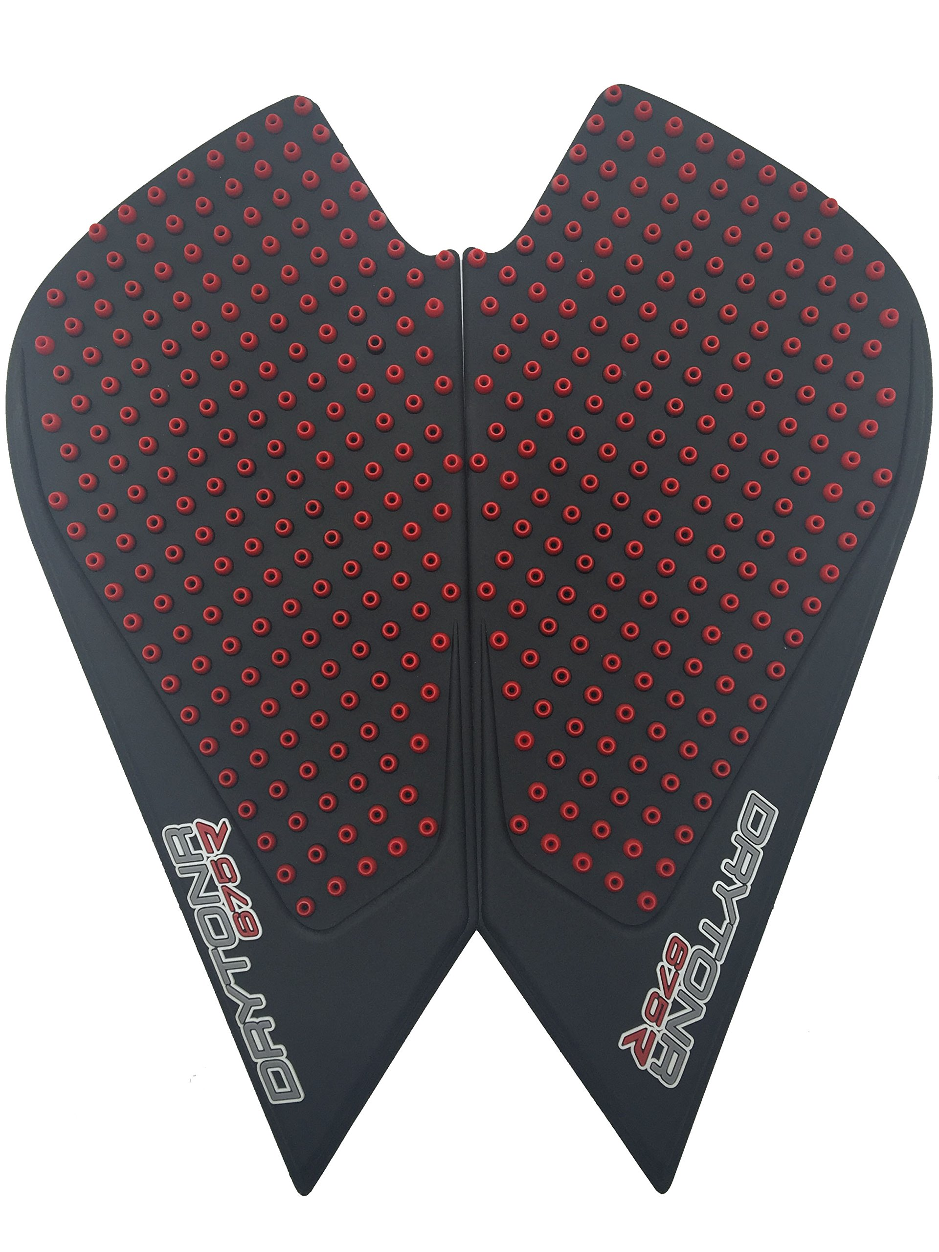 3D Red Dots Gas Fuel Tank Traction Pad Anti Side Slip Protector For Triumph DayTonr 675R 11-16
