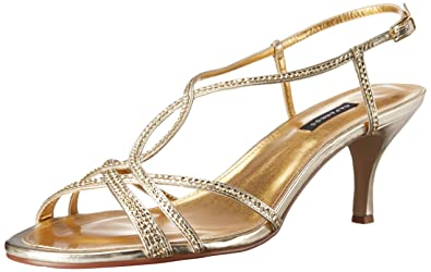 72d46353f75 Caparros Women s Pandora Gold Metallic Sandal 6 C - Wide