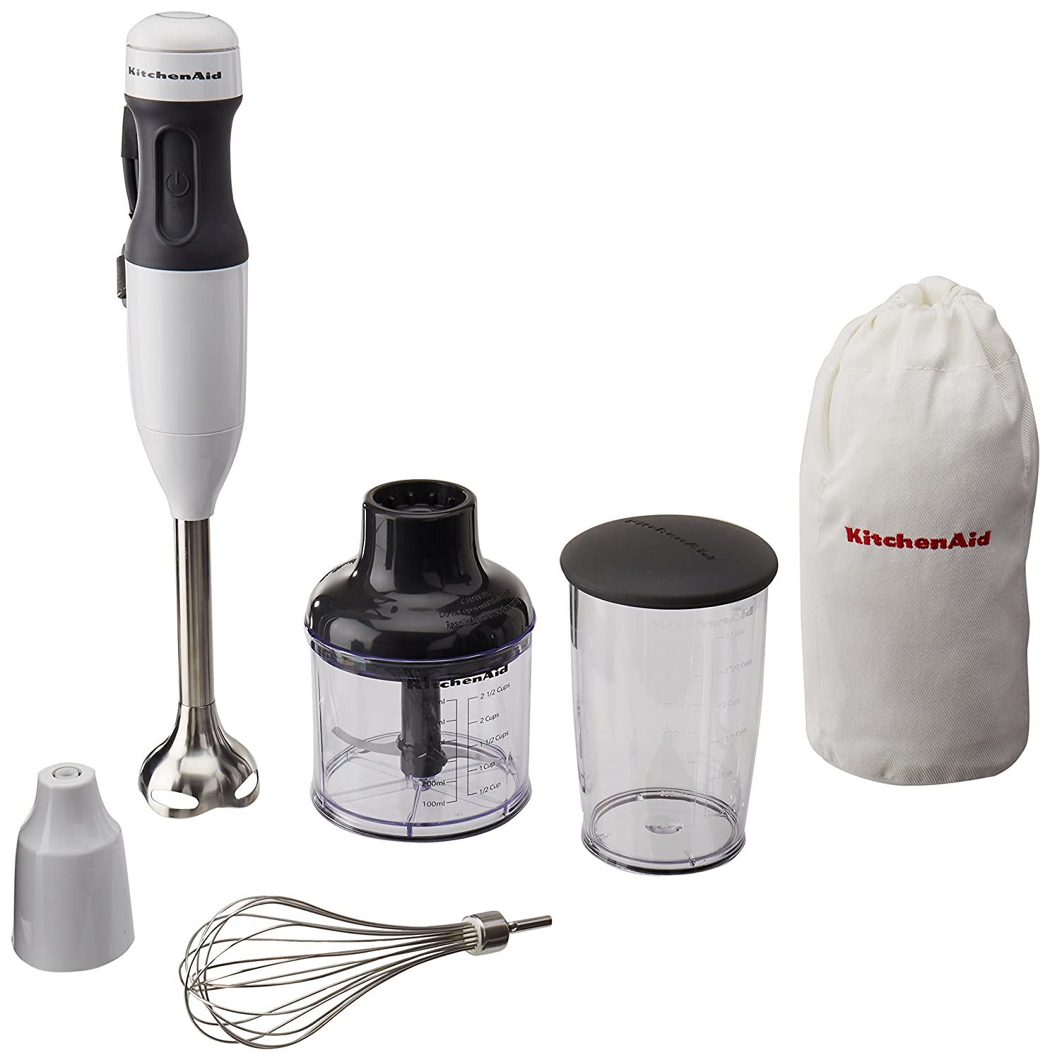 Kitchenaid Hand Blender Mixer White khb2351wh 3 Speed with Soft Grip Handle Blend, Puree,Crush, Chop and Whisk.…