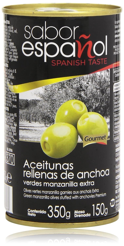 Sabor Español Aceitunas Rellanas de Anchoa, Verdes Manzanilla Extra - 350 g: Amazon.es: Amazon Pantry
