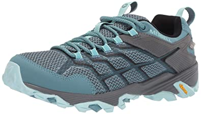 c53d8b1b0 Merrell Women's Moab FST 2 Waterproof Hiking Shoe Blue Smoke 05.0 ...