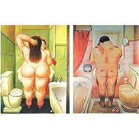 Dcine Set de 2 Cuadros de baño