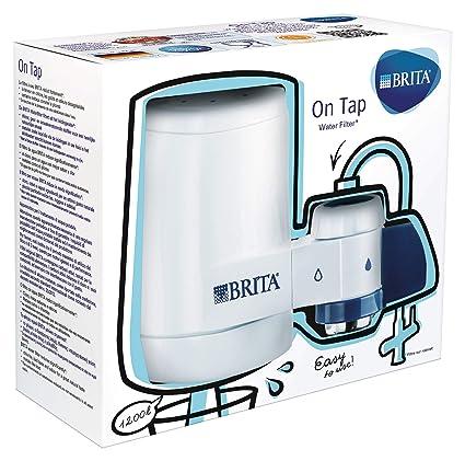 BRITA On Tap - Sistema de Filtración, Agua Filtrada de Óptimo Sabor, Incluye 1 Filtro para Grifo, Color Blanco