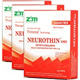 NeuroThin Methylcobalamin Vitamin B12 for Brain and Nervous Support 1000 mcg - Pack of 3 (10 Strips each)