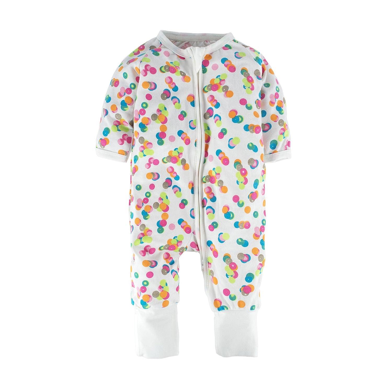 BIG ELEPHANT Unisex-Baby 1 pieza cremallera de manga larga de moda hasta Romper pijama O17