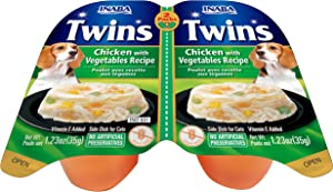 INABA Twins Chicken with Vegetables Recipe (Side Dish for Dogs) 8 -2 Packs, Blue (IND831)
