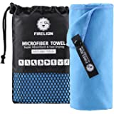 FIRELION Microfiber Travel & Beach Towel - Ultra Compact Absorbent and Quick Drying Towel - for Swimming, Camping, Backpacking, Gym, Bath, Yoga