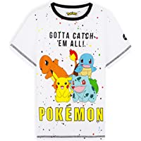 Pokemon Camiseta Niño, Camisetas Niño Manga Corta De Algodón, Regalo Cumpleaños Niños, Tallas De 5-14 Años