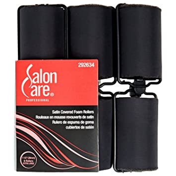 Amazon.com : Salon Care Satin Foam Roller 1 1/2 Inch : Hair Rollers : Beauty