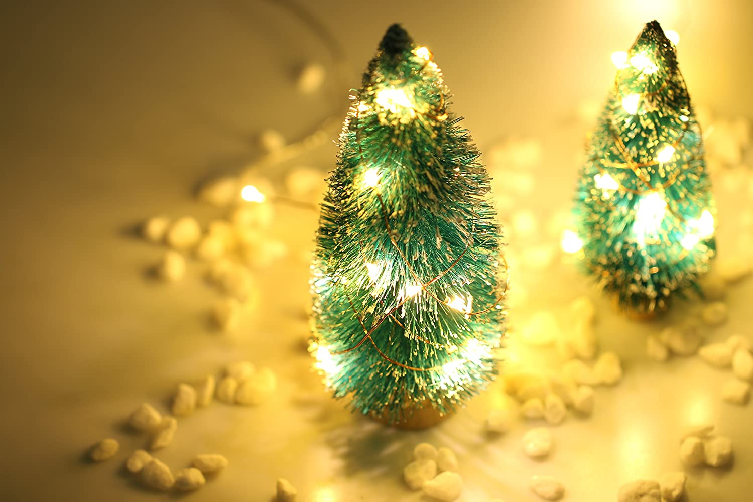 Amazon.com: Pack of 10 LED Starry String Lights CR2032 Battery ...