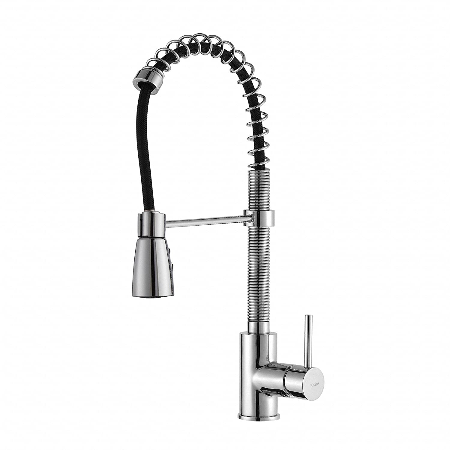 overstock handle free sprayer single chrome product stainless in kitchen home with faucet steel dual faucets garden arch down pull high today kraus function shipping