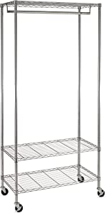 Honey-Can-Do GAR-02079 3-Shelf Deluxe Garment Rack
