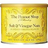 The Peanut Shop of Williamsburg Salt & Vinegar Seasoned Virginia Peanuts, 10.5-Ounce Tin