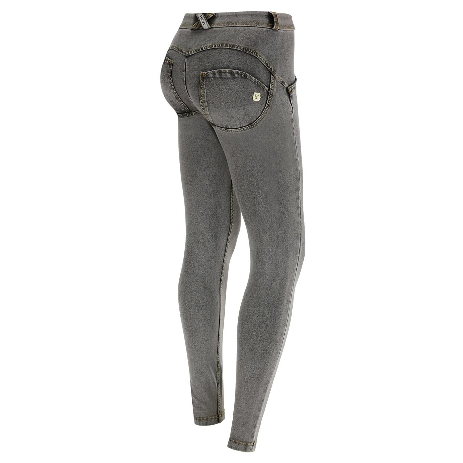 982226bd99026 Freddy WR.UP Skinny Jeans/Jeggings | Mid Waist, Full Length | Booty Shaping  Pants in Blue or Grey at Amazon Women's Jeans store