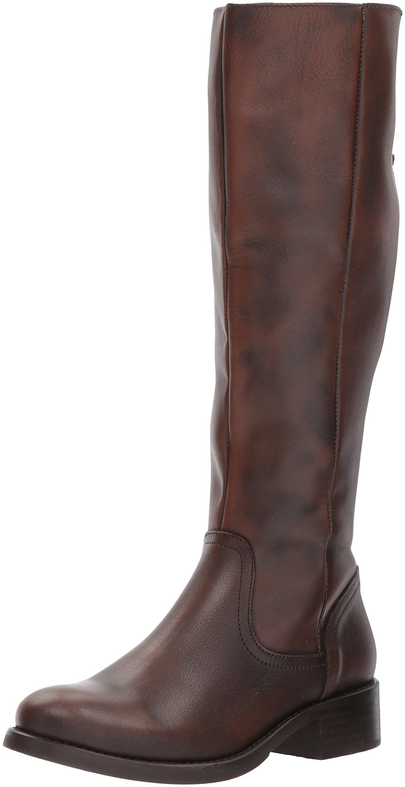 Steve Madden Women's Lover Western Boot, Cognac Leather, 8 M US