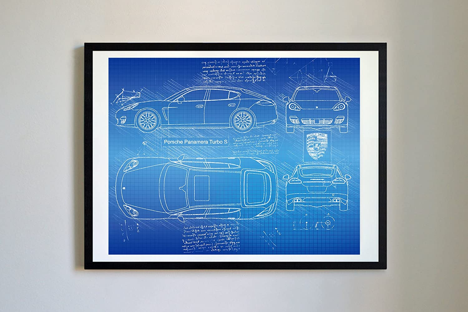 Amazon.com: DolanPaperCo #290 Porsche Panamera Turbo S 2014 Art Print, da Vinci Sketch – Unframed – Multiple Size/Color Options (8x10, Blueprint): Home & ...